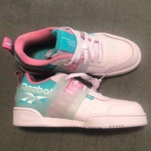 Reebok workout plus ati Sneakers Pink/Teal 5y New